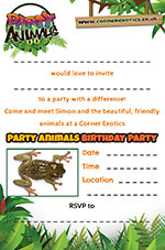 Frog Party Invite